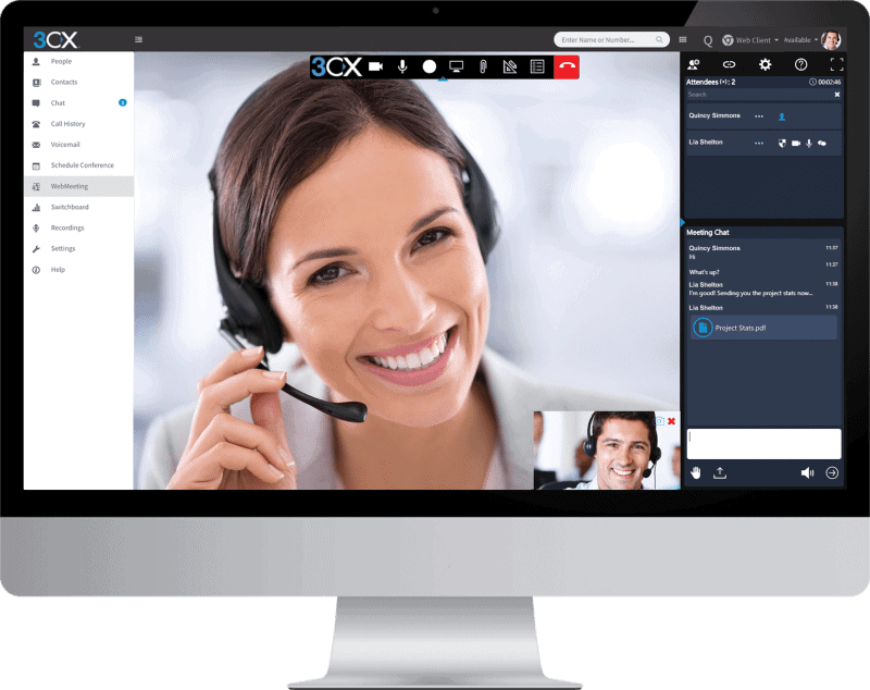 video conferencing 3xc woman headset