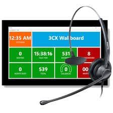 3cx wallboard and headset